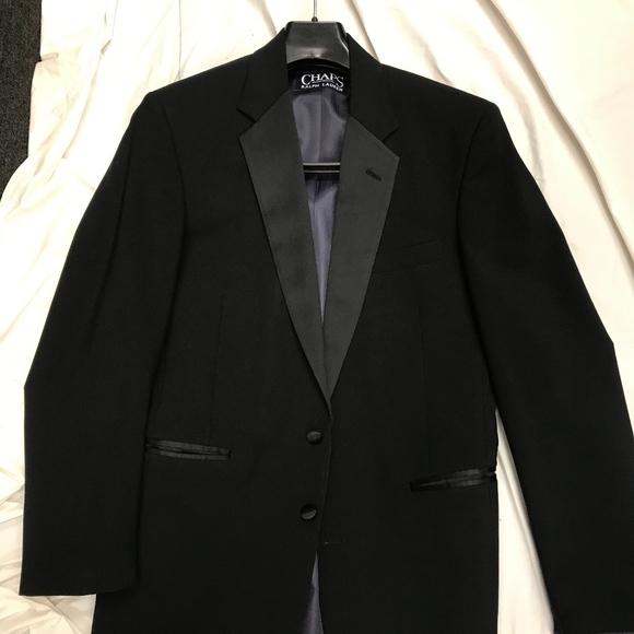 50 R Chaps Ralph Lauren Black Tuxedo Coat Pant Vest Bow tie Complete Tuxedo